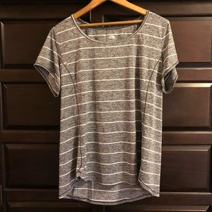 The North Face gray/white Flashdry T-shirt